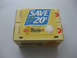 Tone Skin Care Bars 4.75 oz Cocoa Butter Yellow Bath Size Soap Vintage Box TWO - $24.74