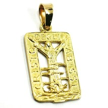 SOLID 18K YELLOW GOLD CHRIST OF THE ABYSS PENDANT, VERY DETAILED MEDAL image 2