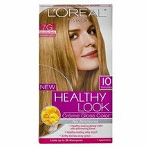 B1G1 AT20% OFF Loreal Healthy Look Creme Gloss Color 7G Dark Golden Blonde Latte - $18.46