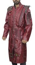 Guardians Of Galaxy Star Lord Chris Peter Quill Costume Leather Trench Coat image 2