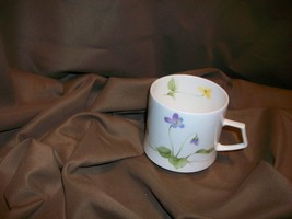 MIKASA NATURE'S GARDEN VIOLET TEACUP FEBRUARY BIRTHDAY FLOWER NARUMI JAPAN - $12.86