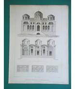 3x ARCHITECTURE PRINTS 1850 - Constantinople Church of Theotokos Turkey - $31.50