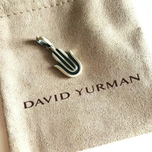 David Yurman Sterling Silver Men's Hamsa Amulet Pendant Authentic NEW 27mm - $166.25