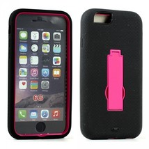Apple iPhone 6 4.7 Armor Hybrid Case w Screen and Stand (Hot Pink) - $10.00