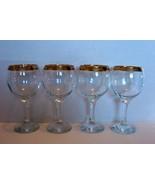 Cristalleria Fratelli Fumo 4 Matching Wine Glaases - $40.00