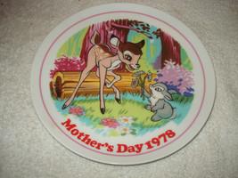 Vintage Disney Bambi Mothers Day 1978 Schmid Collectors plate Japan - $44.54
