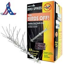 Bird-X Stainless Steel Bird Spikes Kit, Covers 10 Feet - $26.64+