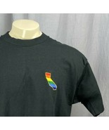 Embroidered State Of California Gay Pride Rainbow Mens XL T-Shirt LGBTQ ... - $25.98