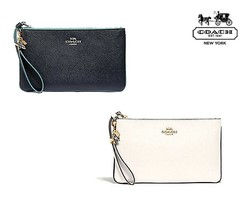 NWT COACH Large Wristlet Star Studs Charms Navy White Gold Clutch Wallet... - $60.39+