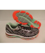 Asics women's gel nimbus 19 running shoes carbon white flash coral size ... - $128.65