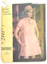 vtg 1970 MCCALL'S Dress Larry Aldrich Pattern 2445 Sz 14 Bust 36 Cut 2 V... - $5.59