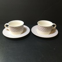 "2 Cups & Saucers Tea Coffee Pinwheel Intaglio Mikasa 6.5"" - $12.59"