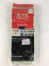 Action Maid Type D Vacuum Cleaner Bags Fits Hoover Dial-A-Matic 4 Bags - $6.97