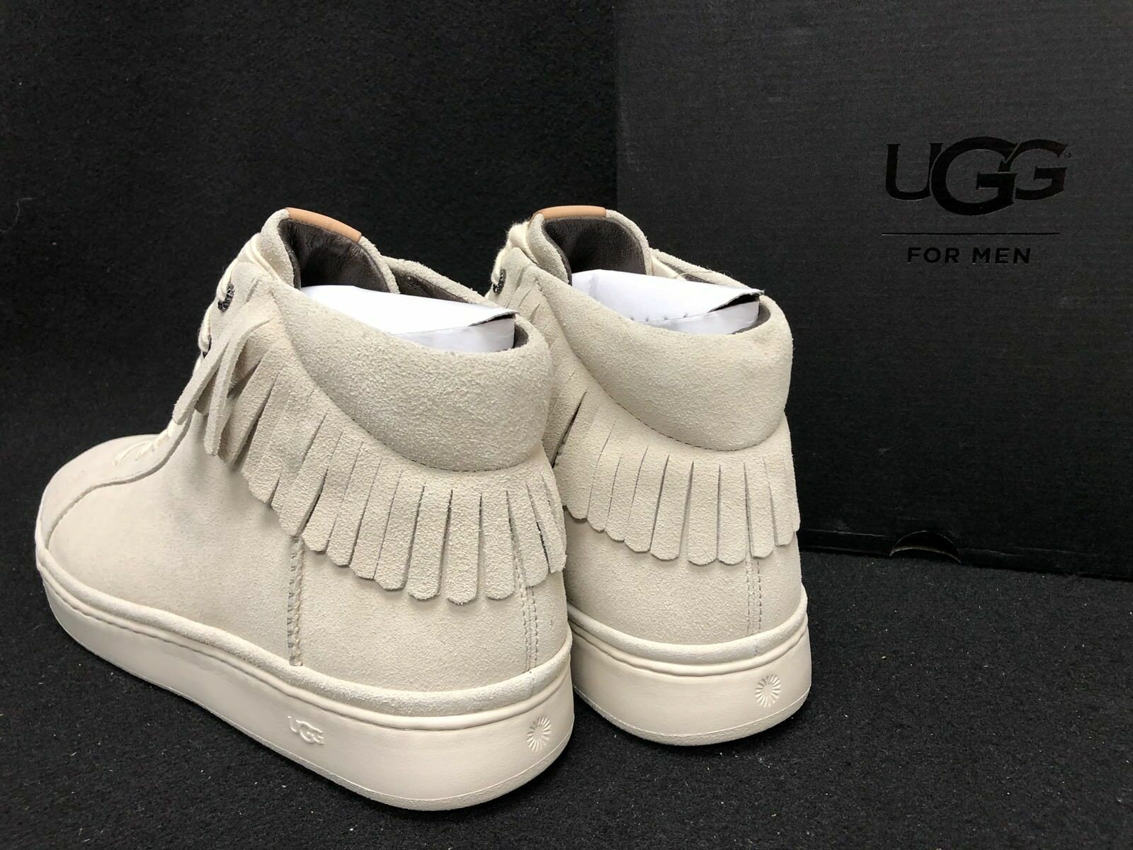 Ugg Australia Cali Sneaker High Fringe White Cap Shoes 1020137 High Top Suede