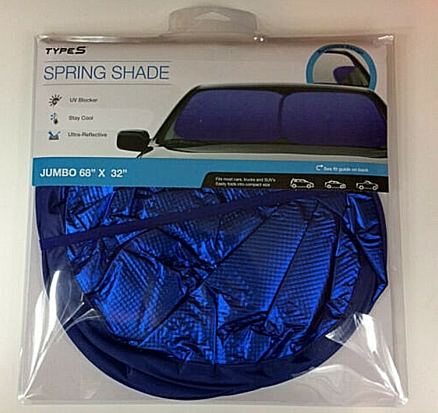 "Primary image for Winplus Touring Items Type S Jumbo 68"" x 32"" Spring Sun Shade ~ Brand New"