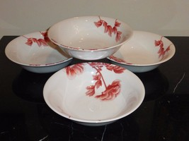 Royal Worcester Red Peony Bowls Set Of 4 - $68.00