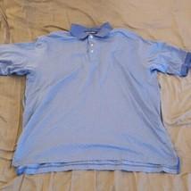 Vintage Polo Golf Ralph Lauren Polo Shirt Mens 2XL Blue Geometric  - $23.05