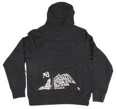Dissizit Mens Black White FYSP F ck Your Skate Park Pullover Hoodie Sweater NWT image 2
