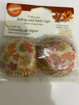 """Wilton Colorful Leaves Mini Size Cupcake Muffin Liners Baking Cups 1.25"""" - 75ct - $4.95"""