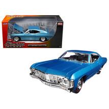 1967 Chevrolet Impala Blue Showroom Floor 1/24 Diecast Model Car by Jada... - $37.75