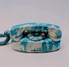 Vintage Emerson Telephone Blue Sky Cloud Princess Touchtone Rotary Phone... - $32.89
