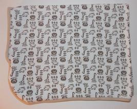 Little Me Safari Baby Blanket 28x23in Security Lovey Giraffe Lion Elephant - $13.99