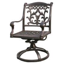 Fire Pit Propane Table 7 Piece Set Cast Aluminum Outdoor Patio Furniture   image 9