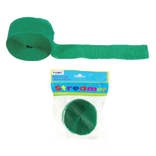 Green Crepe Streamer 81 X 1.75/Case of 36