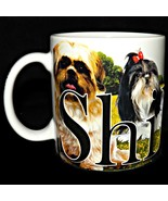 2013 Americaware Shih Tzu Dog 3D Color Relief Extra Large 18 oz Coffee M... - $34.99