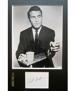 ROD SERLING (TWILIGHT ZONE) ORIGINAL AUTOGRAPH WITH PHOTO - $989.99