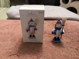 New 2009 Hallmark Jolly Snowman 2ND In The Noel Nutcrackers Series In Box - $24.75