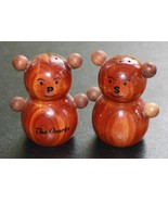 Vintage The Ozarks Souvenir Wood Bear Salt & Pepper Shakers Cute! - $12.10