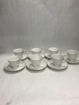 White Lace Japan 7 sets tea cup saucer  Mid Century Modern NORITAKE Norl... - $54.44