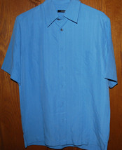 Mens Small Dress Shirt Short Sleeve Oxford Alfani Blue NWT $46 Fathers Day Gift - $24.70