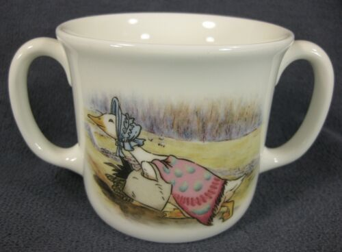 Royal Doulton Childs 2 Handled Cup & Bowl Beatrix Potter Jemima Puddleduck image 5