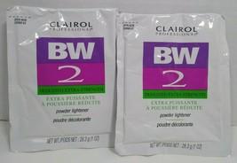 Lot of 2 Packs Clairol BW 2 Powder Dedusted Hair Lightener 1 oz Packets - $9.99
