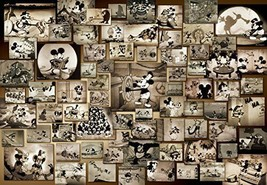Tenyo Mickey Mouse Monochrome Black and White Film Movie Jigsaw Puzzle - $42.51