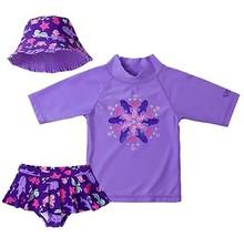 UV SKINZ Girls 3 Piece Swim Set (Purple Sea Critters, 7) - $16.03