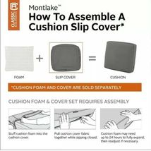 "Classic Accessories Montlake FadeSafe Cushion Slip Cover - 19""W x 20""H x 4""T image 5"