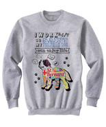 Saint bernard dog can enjoy life c - NEW COTTON GREY SWEATSHIRT- ALL SIZES - $31.88
