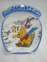 Winnie the Pooh January Calendar Plate Whole Ye... - $15.83
