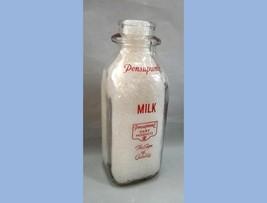 vintage GLASS PINT PENSUPREME MILK BOTTLE pa dairy product duraglas qual... - $64.95