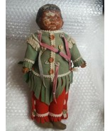"""13"""" vintage very old cracked paint Native American Indian girl doll pre-... - $444.13"""
