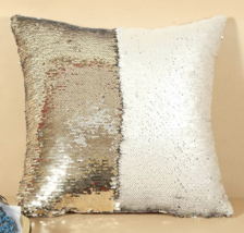 Gold Mermaid Sequin Magical 40X40cm Color Changing Reversible Pillow Case  - $5.99