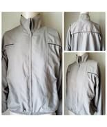 Roundtree & Yorke Men's Jacket Beige Tan Zip Front Windbreaker Sport Gol... - $47.42