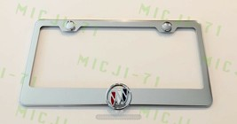 3D Buick Emblem Stainless Steel License Plate Frame Rust Free - $22.99
