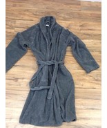 hudson park collection robe: size s/m: gray - $46.40