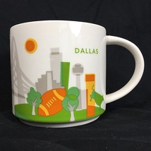 Starbucks Coffee Tea Mug Cup Dallas You Are Here Collection 2013 14oz  - $20.00