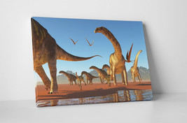 Argentinosaurus Dinosaur Children Kids Wall Art Gallery Wrapped Canvas Print - $44.50+