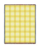 Lemon Plaid Throw - 70 x 53 Blanket/Throw - $64.95